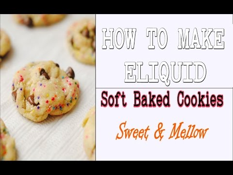 "DIY Eliquid  ""Soft Baked Cookies"" 70/30 Original Recipe [Full Flavor Cookie DIY ejuice]"