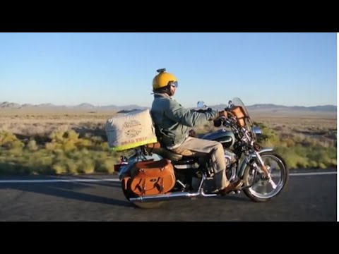 A Long and Fuel Efficient Journey around the USA on a Harley Sportster Motorcycle.