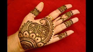 Latest beautiful,stylish and easy mehndi designs for front