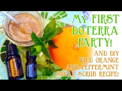 doTERRA Essential Oil Party | DIY Orange n Peppermint Sugar Scrub Recipe