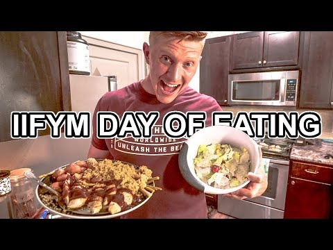 The Return of IIFYM FULL DAY OF EATING | Lean Bulking, Protein Waffles, & Halo Top