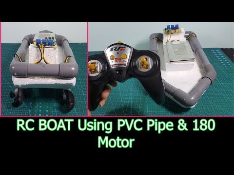 How to Make a Simple REMOTE CONTROL BOAT  Using PVC Pipe and Motor 180 DC