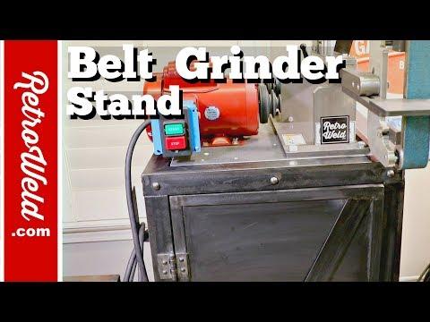 🔴 Industrial Belt Grinder Stand Build / KMG