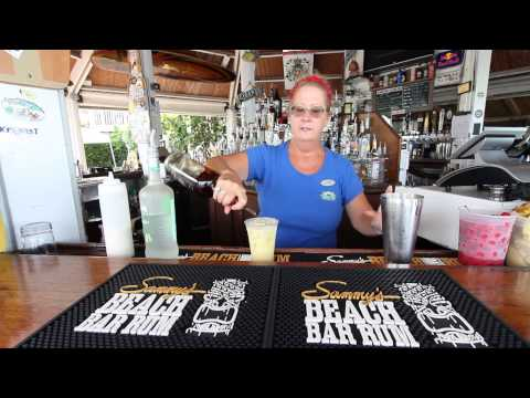 Libby demonatrates how to make one of her favorite tropical drinks.