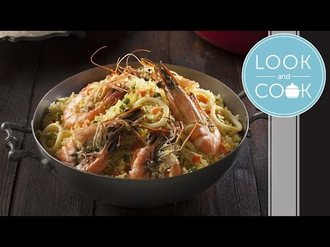 Seafood Paella Recipe - Look and Cook step by step recipes | How to make Seafood Paella Recipe