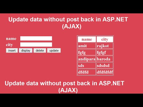 Update data without post back in ASP.NET using AJAX
