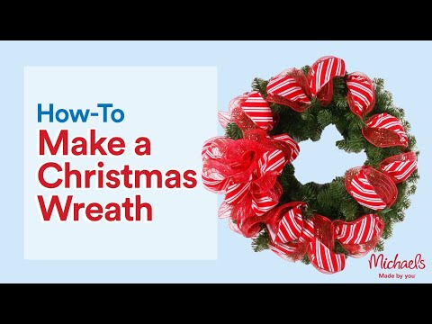 Add Ribbon & Mesh to Your Wreath | Make It Merry | Michaels