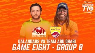 Match 8 HIGHLIGHTS I Team Abu Dhabi vs Qalandars I Day 3 I Abu Dhabi T10 I Season 4