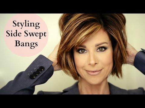 How To Blow Out Side Swept Bangs