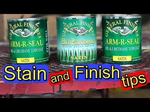 Staining and Finishing Tips and Tricks