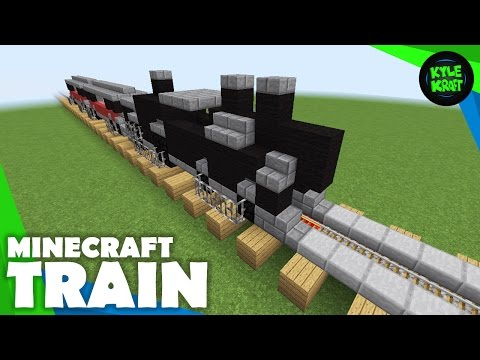 Minecraft | Build a Train! | Minecart Railroad Train Detail | Tutorial