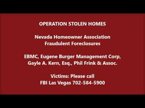 EBMC VICTIMS: Contact FBI Las Vegas, IRS, Secret Service with Your HOA Financials!