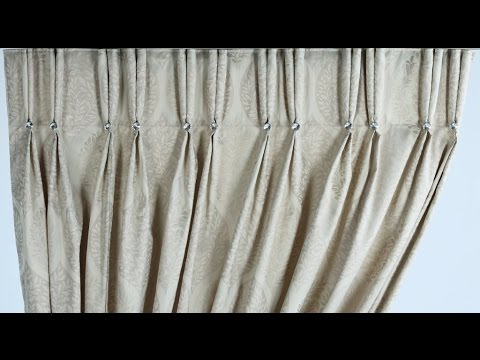 Two pleat- how to make double pinch pleat curtains