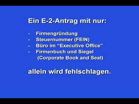 DEUTSCH: E-2-Visa (E-Visas in German)