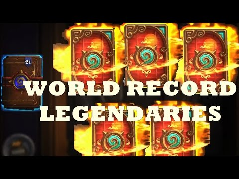 [Hearthstone] Pack Opening World Record! Legendary/Epic Madness HD