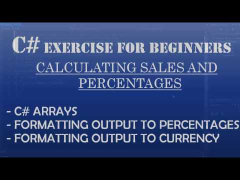 C# How To Program: Calculating Sales and Percentages (Arrays, Formatting output to percentages)