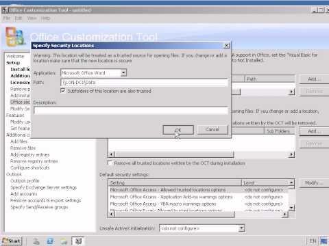Customizing the Microsoft Office Professional Plus 2007 Installation.avi