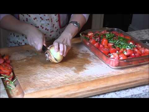 EASY! Garden Fresh Oven Roasted Tomato Sauce - No Peeling Necessary!!!