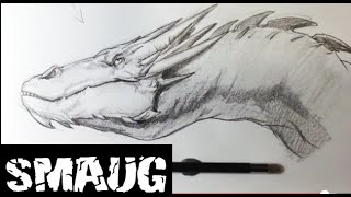 How To Draw Smaug From The Hobbit  Easy Things To Draw