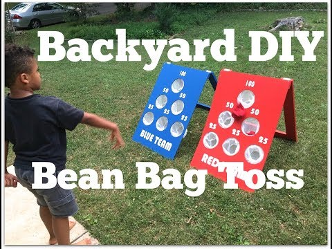 How to Make a DIY Bean Bag Toss Game - Outdoor Game Ideas - Thrift Diving