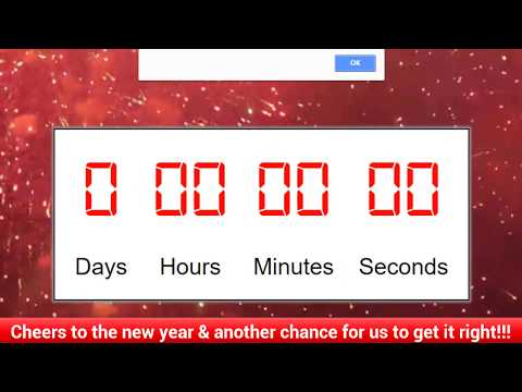 Happy New Year!! [2018] | CountDown Timer using JavaScript | Coding Clock for New Year
