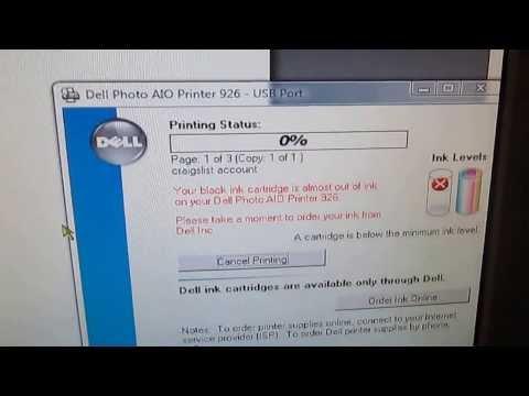 Video of Dell 926 Printer