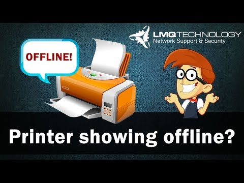 Printer keep showing offline?