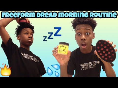 MORNING ROUTINE FOR STATER DREADS W/ A SPONGE!! (BEST METHOD!!)