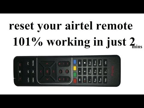 how to reset airtel dth remote