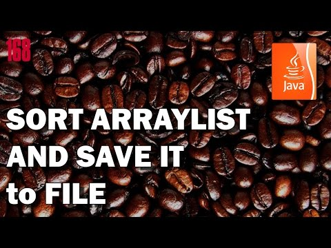 JAVA How to Sort ArrayList of strings and save it to text file