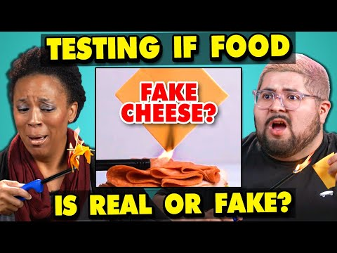 Xxx Mp4 Adults React To Testing If My Food Is REAL Or FAKE 3gp Sex