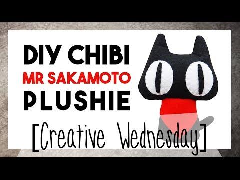DIY CHIBI MR SAKAMOTO PLUSHIE! (FREE TEMPLATES) [CREATIVE WEDNESDAY]