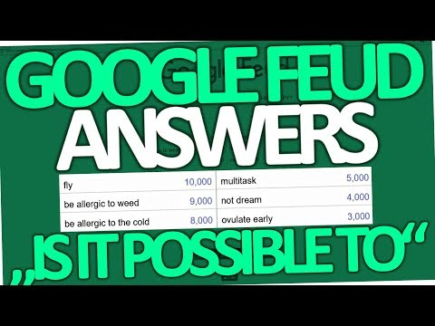 Google Feud - Is it possible to have super powers? (All 10 Answers)