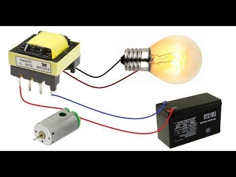 12V to 220V Inverter || Make DC to AC Converter with DC Motor