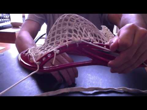 How to String a Lacrosse Head with Any Kind of Channel and Pocket (Detailed Steps)