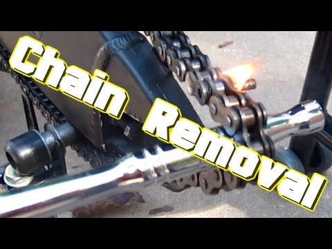 How to Remove a motorcycle chain like a Boss...