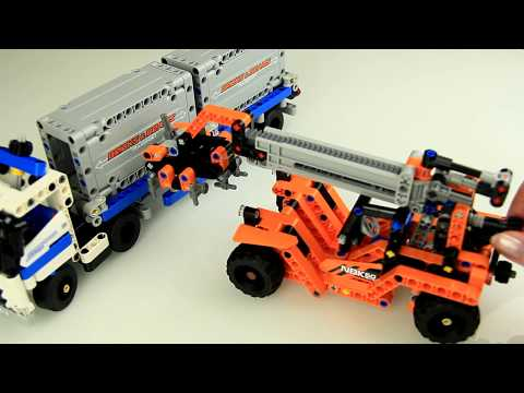 Toy truck assembly building blocks for children. Part 2