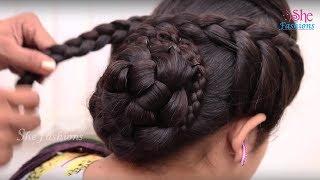 Bridal Bun Hair style for Long Hair    Ladies Hair Style Tutorials 2017