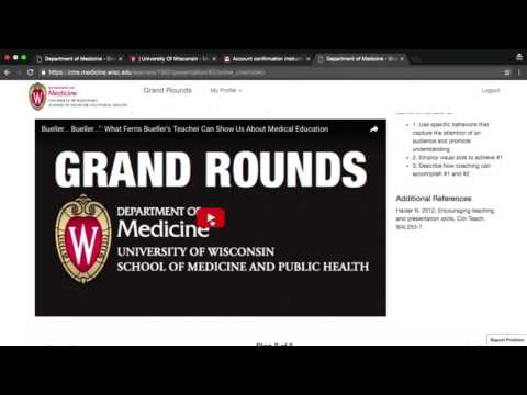 Video tutorial: Using the Department of Medicine Online CME System