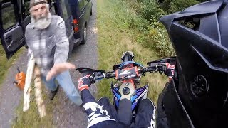 ANGRY GUY TRIES TO PUSH BIKER | STUPID, CRAZY & ANGRY PEOPLE vs BIKERS |  [Ep. #106]
