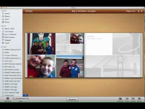 Making a book using iPhoto