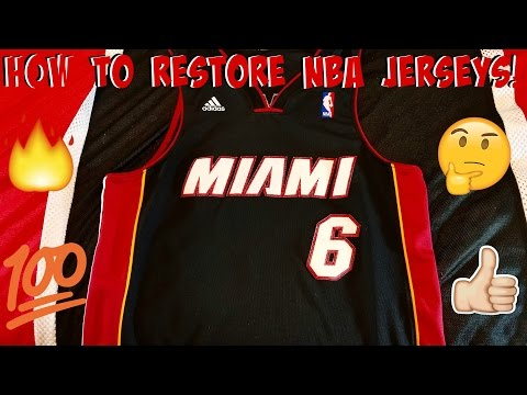 Basketball Jersey Restoration Tutorial