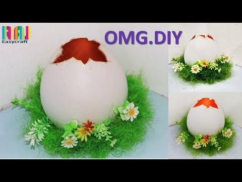 DIY' Room decor | Easy Egg Candle Stand || Best Plaster of Paris DIY Craft  | DIY art and craft