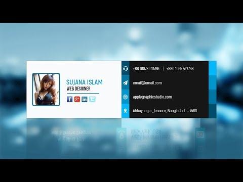 PSD Email Signature Design - Photoshop Tutorial