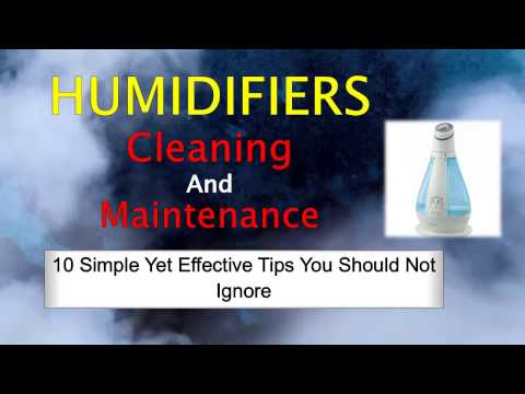 Humidifiers Cleaning and Maintenance: 10 Simple Yet Effective Tips You Should Not Ignore