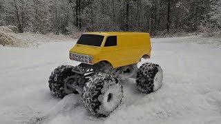 NEW BODY! - Ursa - 3D printed monster truck in snow