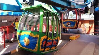Pixar Pal-A-Round FULL CIRCUIT and view of all 24 gondolas in Pixar Pier at Disneyland Resort