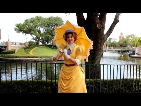 Jane from Tarzan Greets Guests at Epcot's International Gateway, Walt Disney World - Rare Visit!