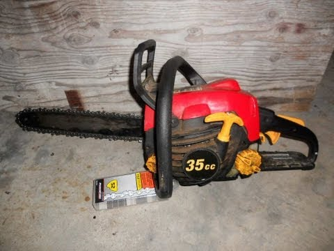 Replace a Chainsaw Blade Homelite 14