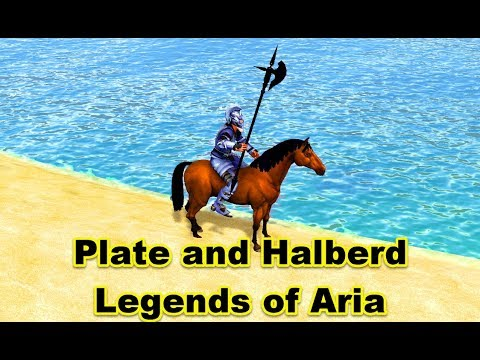 Plate and Halberd Fit, Hunting for Resources and Fun !loa Legends of Aria